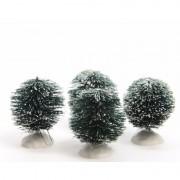 Geen Kerstdorp maken besneeuwde kerststruik groen 6 cm