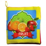 Intelligence development Cloth Bed Cognize Book Educational Toy for Kid Baby(fruit)