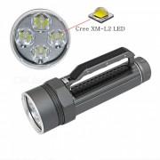 AIBBER TONE 4x cree XM-L2 LED linterna submarina de buceo? a prueba de agua 4800 lumenes 26650 linterna lanterna - gris
