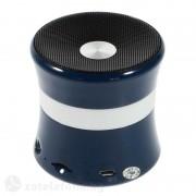 Bluetooth спийкър с бяла лента - тъмно син