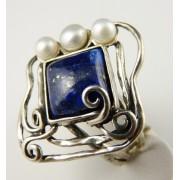 Inel argint R5471 - lapis lazzuli (MASURI IN STOC ⤵: 60 mm circumferinta sau 19,1 mm diametru interior, Piatra: lapis lazzuli, Categorie: inele)