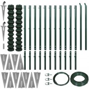 Sonata Комплект оградна мрежа с колове и клинове, 1,97x25 м, зелена