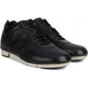 Clarks Triturn Hi Black Leather Casual Shoes For Men(Black)