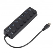 7 Ports High Speed USB 3.0 Hub with On/Off Switches