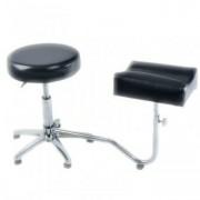 Suport pedichiura cu scaun , reglabil, negru