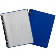 MARBIG REFILLABLE DISPLAY BOOK A4 20 POCKET BLUE W/CLEAR FRONT