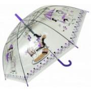 Deštník dámský holový průhledný fialový 9164-6 9164-6