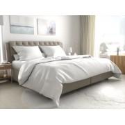 Szállodai ágyneműhuzat atlas grádl fehér - 4 mm csík