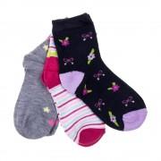 G008 fekete, fehér és szürke gyerek zokni