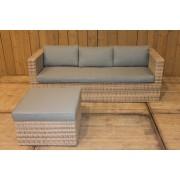 Bari loungeset white faded grey