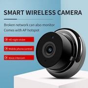 Alician Mini WiFi cámara 720P de seguridad para el hogar monitor inalámbrico de visión nocturna detección de movimiento interior y exterior grabadora de vídeo SZXAS-ZQ1-0619PEL_0CP54SPC