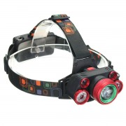 Meco XANES 2407 2500LM T6+4XPE Headlamp Mechanical Zoom for Camping Hiking Cycling