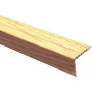 Protectie treapta aluminiu 2700x25x20 mm stejar rustic