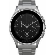 Smart Watch Vector Luna 44mm Argintiu Curea Metalica Argintie