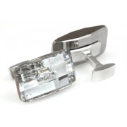 Mousie Bean Crystal Cufflinks Large Button 163 Clear