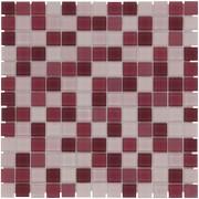 Mozaiektegel Montreal Rose Mix Clear Glass Glass 318x318