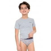 Fiú alsónemű szett, fiú alsó és póló szürke