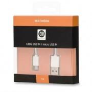 D2 DIFFUSION Cable USB 2.0 micro male/ male 1m blanc