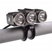 Richfire Sf-617 3 LEDs 1200 LM CREE XM - L T6 Cool White LED Ojo De águila Bicicleta Faro Con Fuerte / Medio / Bajo / Fast Strobe Modos (gris + Plateado + Violeta)