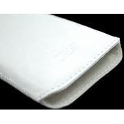 B2C Leather Case Nokia Asha 501 Washed White