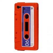 Apple Orange och lila kassettband-skal till iPhone 4/4s
