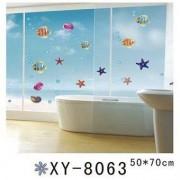 TipTop Wall Stickers Sea World Djur Badrum glasfönster