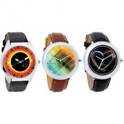 Combo of Lava Collection Rock Heart Collection And Multi Colour Collection Analog Watches