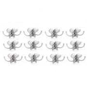 Kurvz butterfly Shape Flexible 4 Pin Cloth Hanger Bathroom Wall Door Hooks For Hanging keys Clothes towel (Pack of 12)