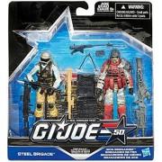 G.I. Joe, 50th Anniversary, Troop Build Up Action Figure Set [Steel Brigade vs. Iron Grenadier], 3.75 Inches