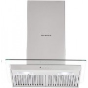 Faber Hood Glassy 3D T2S2 LTW 60 Wall Mounted Chimney(Silver 1095 CMH)