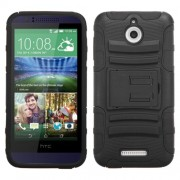 Funda Protector Mixto HTC Desire 510 512 Negro c/ pie
