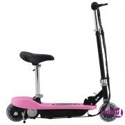 vidaXL Električni skuter sa sjedalom 120 W ružičasti