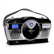 Auna RCD-70 Radio retro FM USB CD pilas negro (MG-RCD-70-B)