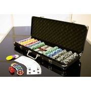 Zestaw do gry w pokera BLACK EDITION 500 szt.