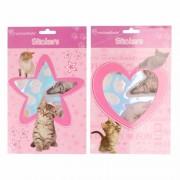 Poezen/katten dieren stickertjes