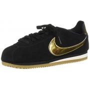 Nike Classic Cortez SE_902856-014 Zapatillas para Mujer, Black/Metallic Gold/Phantom, 8.5
