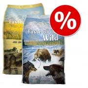 2 x 6 kg! 12 kg Taste of the Wild Pachet mixt la preț special! - Wetlands & Pacific Stream