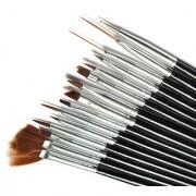 Looks United High Quality 15pcs Nail Art Design Dotting Painting Drawing UV Polish Brush Pen Tools Set Kit