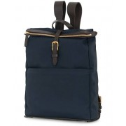 Mismo M/S Express Nylon Backpack Navy/Dark Brown
