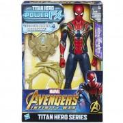 Hasbro marvel avengers infinity war iron spider titan hero power fx, personaggio 30 cm, e0608103