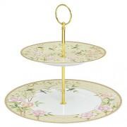 **R2S porculanski etažer za tortu na 2 kata u poklon kutiji Palace Garden Fresco