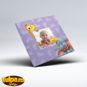 Invitaţie de botez cu animăluţe Zoo (Dumbo)