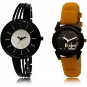 The Shopoholic Black Silver Combo Fashionable Fancy Collection Black And Silver Dial Analog Watch For Girls Watch Girl