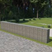 vidaXL Perete gabion cu capace, 900 x 50 x 150 cm, oțel galvanizat