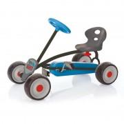 Mini Go Kart Turbo, anvelope 16 cm, scaun reglabil, maxim 30 Kg, 2 - 4 ani, Albastru