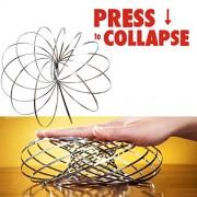 Flyngo Kinetic Spring Flow Toy Fidget Slinky Stainless Steel Springs 3D Sculpture Magic Ring 3D Flow Toy - Steel