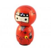 Japonská panenka Kokeshi Ninja Red 12 cm
