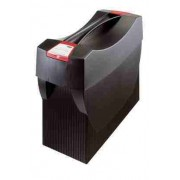 Suport plastic pentru 10 dosare suspendabile, cu capac, HAN Swing - negru