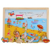 Skillofun Magnetic Twin Play Tray - The Beach, Multi Color