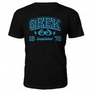 The Geek Collection Camiseta Geek Established 1972 - Hombre - Negro - XXL - 1972